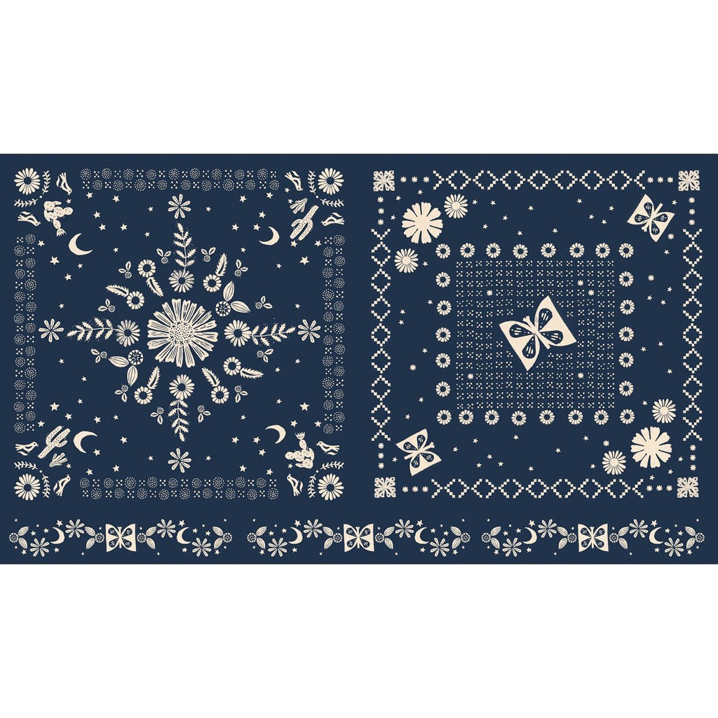 Ruby Star Society - Alexia Abegg - Golden Hour - Bandana Panel - Navy
