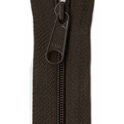 "YKK Ziplon Closed Bottom Zipper - 9"" - Sable"