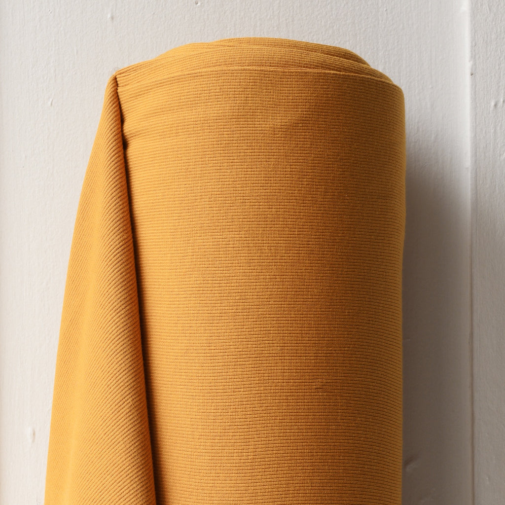1/2m Bamboo Cotton Rib Knit - Saffron