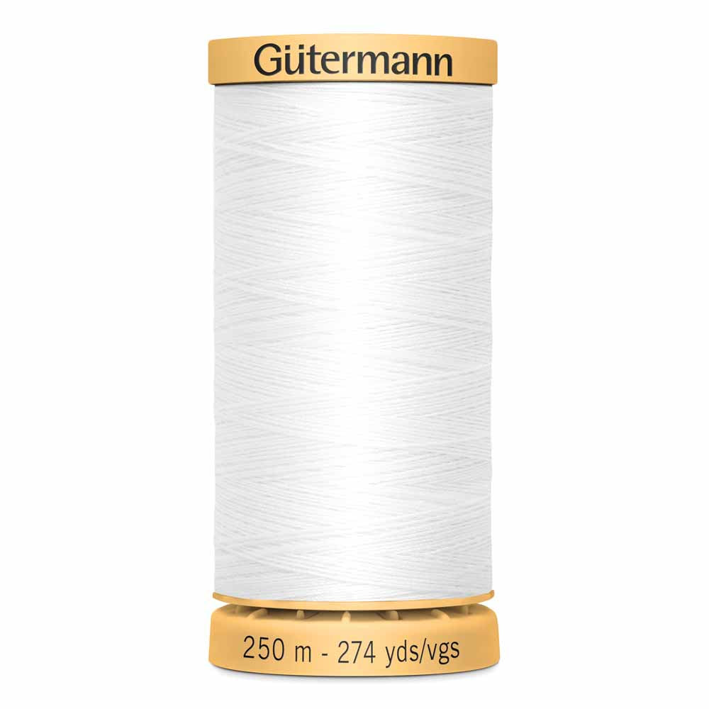 Gütermann Cotton Thread - 250m - #1006 White