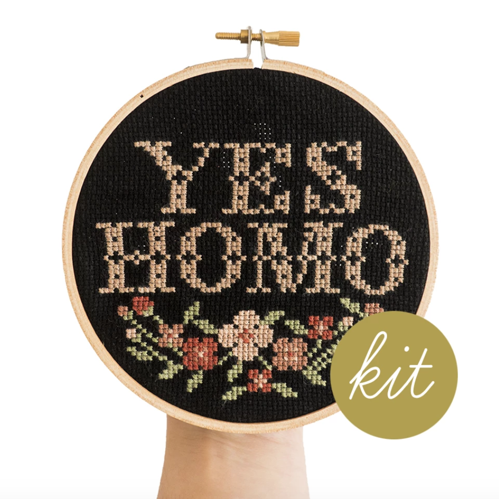 Junebug and Darlin - Yes Homo Cross Stitch Kit