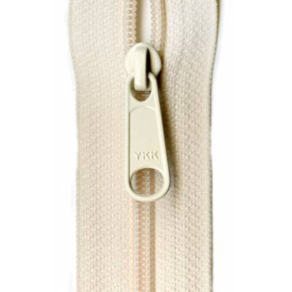 "YKK Ziplon Closed Bottom Zipper - 14"" - Off White"