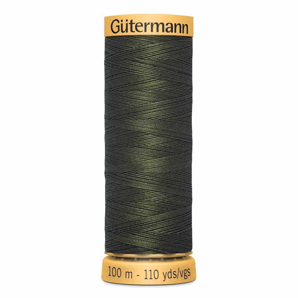 Gütermann Cotton Thread - 100m - #8680 Black Olive