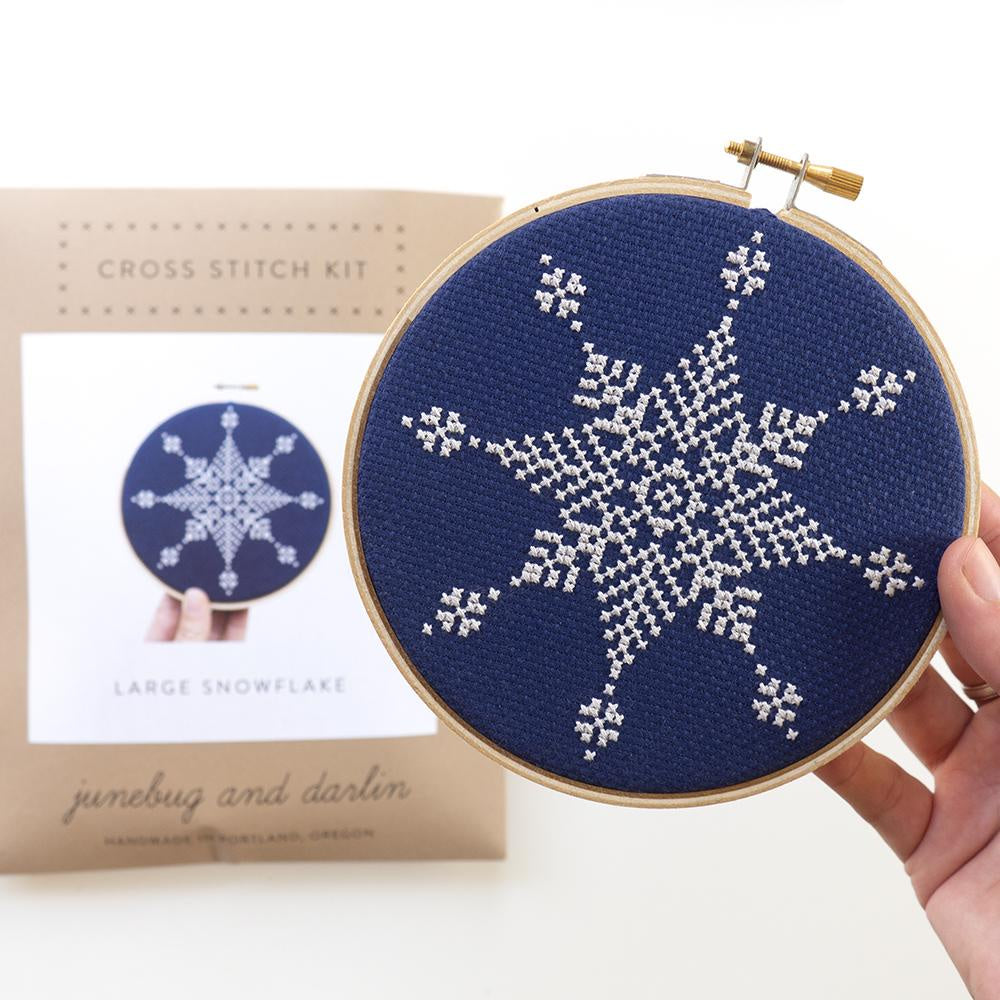 Junebug and Darlin - Large Snowflake I Cross Stitch Kit