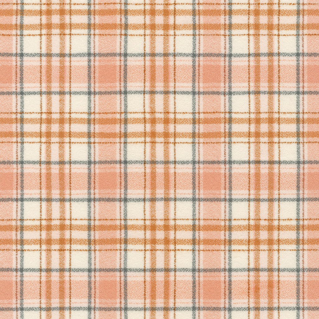 1/2m Mammoth Flannel - Plaid - Peaches