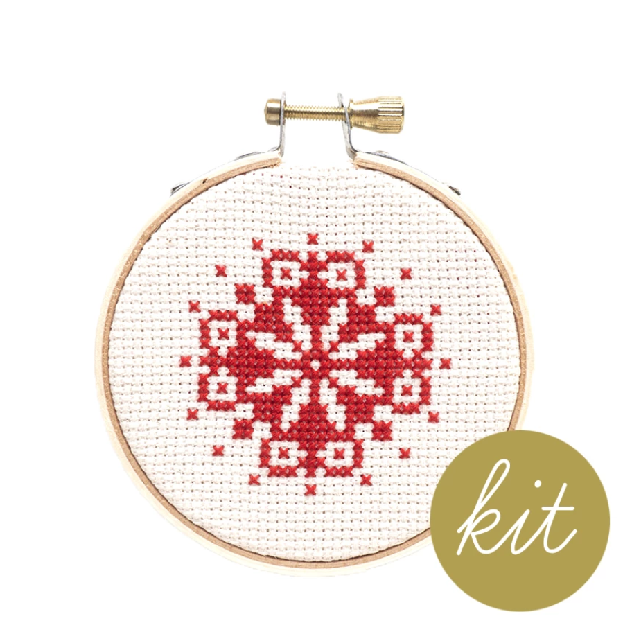 Junebug and Darlin - Snowflake Ornament Cross Stitch Kit III