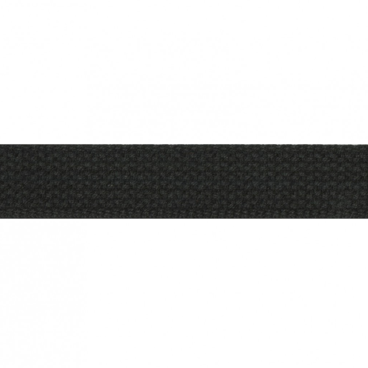 "1"" Cotton Webbing - Black - 1m"
