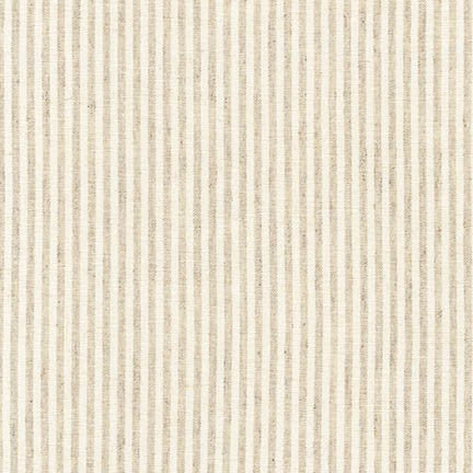 1/2m Robert Kaufman - Essex Yarn Dyed Classic Wovens - Small Stripe - Natural