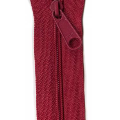 "YKK Ziplon Closed Bottom Zipper - 9"" - Garnet"