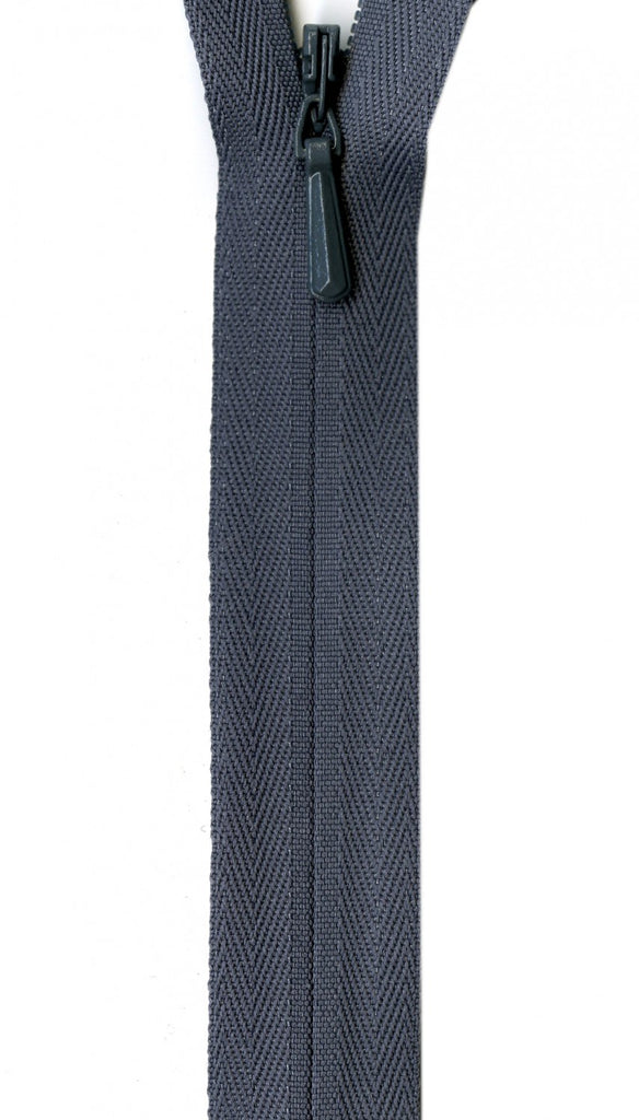 "YKK Unique Invisible Zipper - 9"" - Grey"