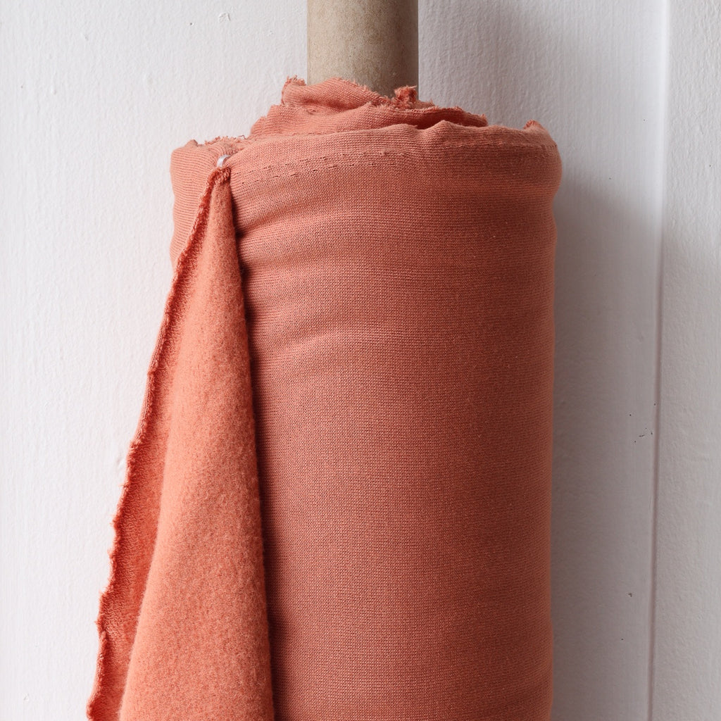 1/2m Bamboo Cotton Fleece - Terracotta