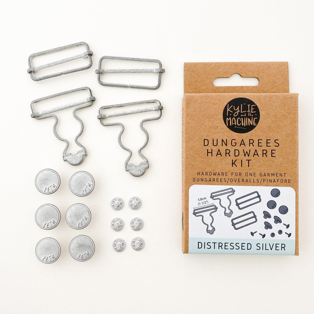 Kylie And The Machine - Dungarees Hardware Kit - Distressed Silver