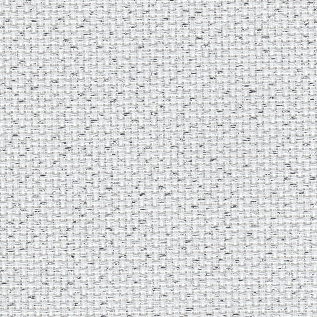 Zweigart - Aida Cloth - 14 Count - White and Silver