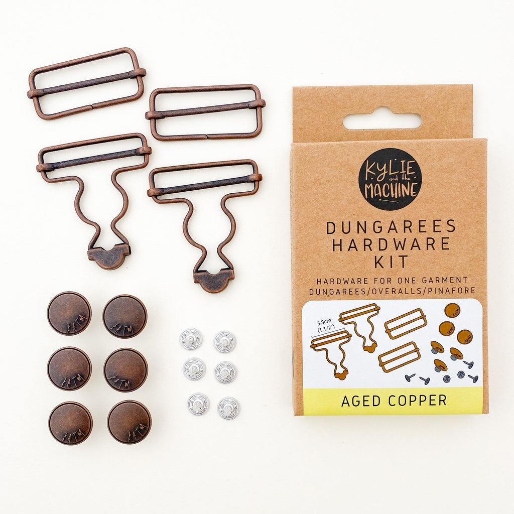 Kylie And The Machine - Dungarees Hardware Kit - Aged Copper