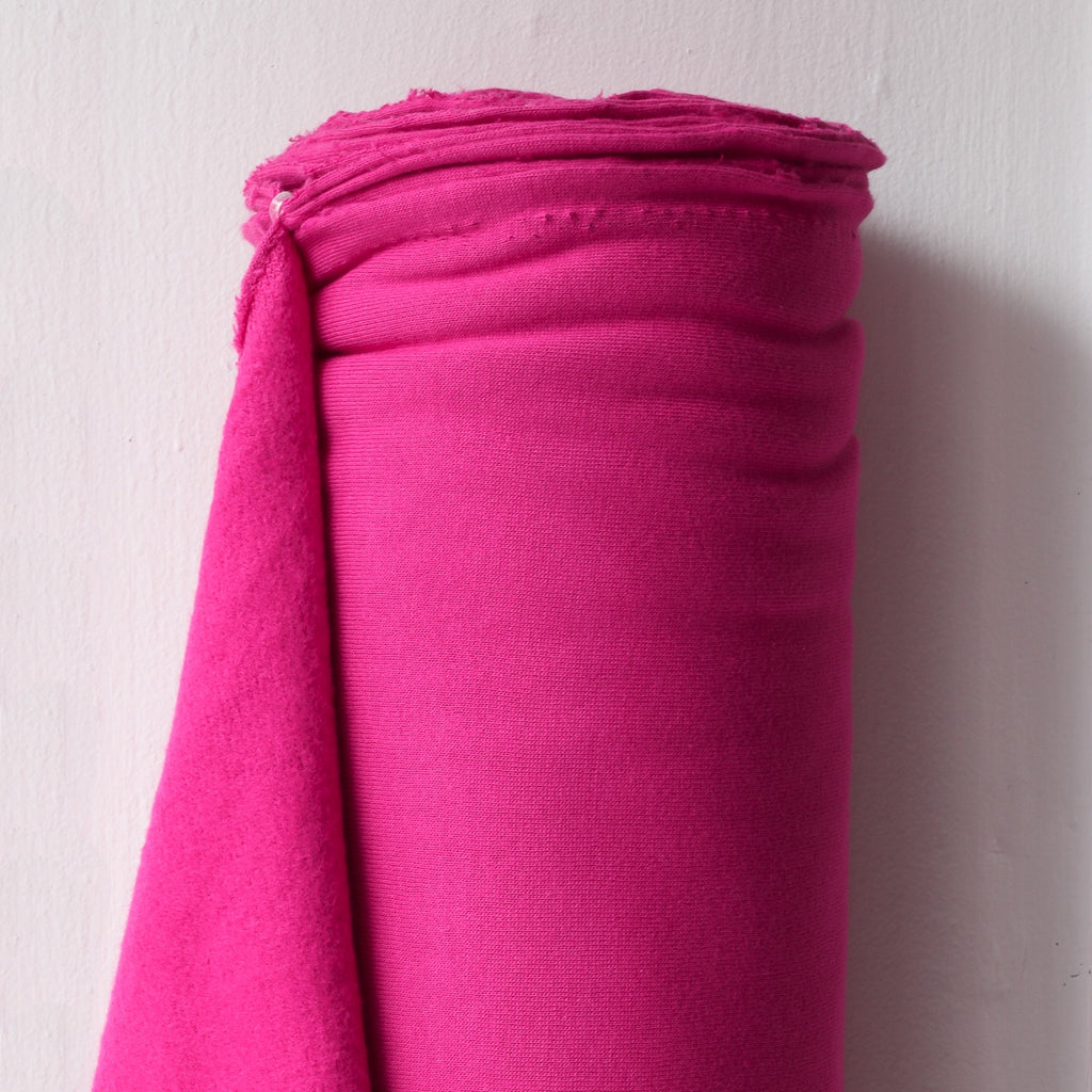 1/2m Bamboo Cotton Fleece - Bright Pink