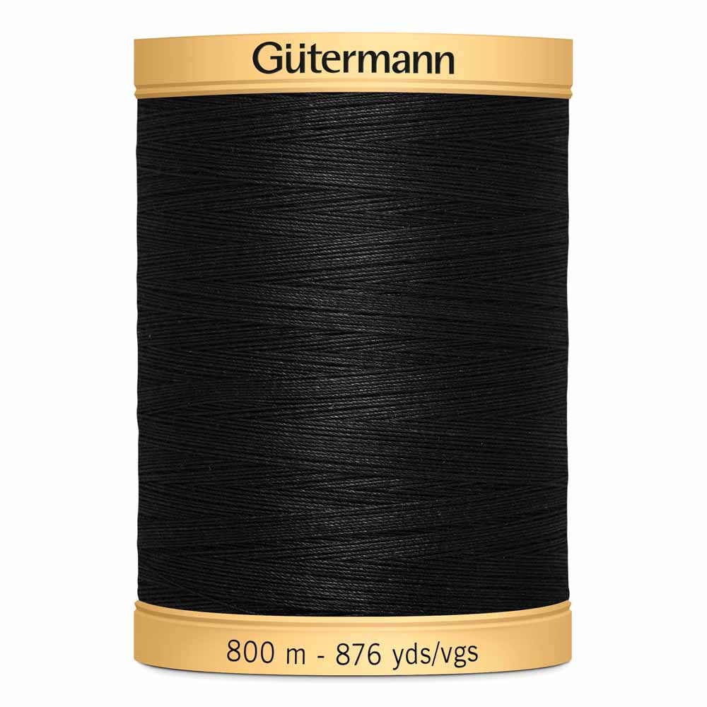 Gütermann Cotton Thread - 800m -  #5201 Black