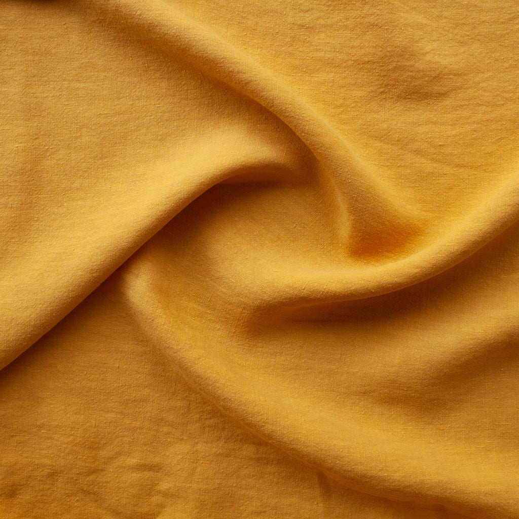 1/2m Washed Linen - Mustard