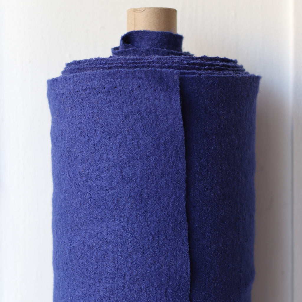 1/2m Boiled Wool and Viscose - Ultramarine