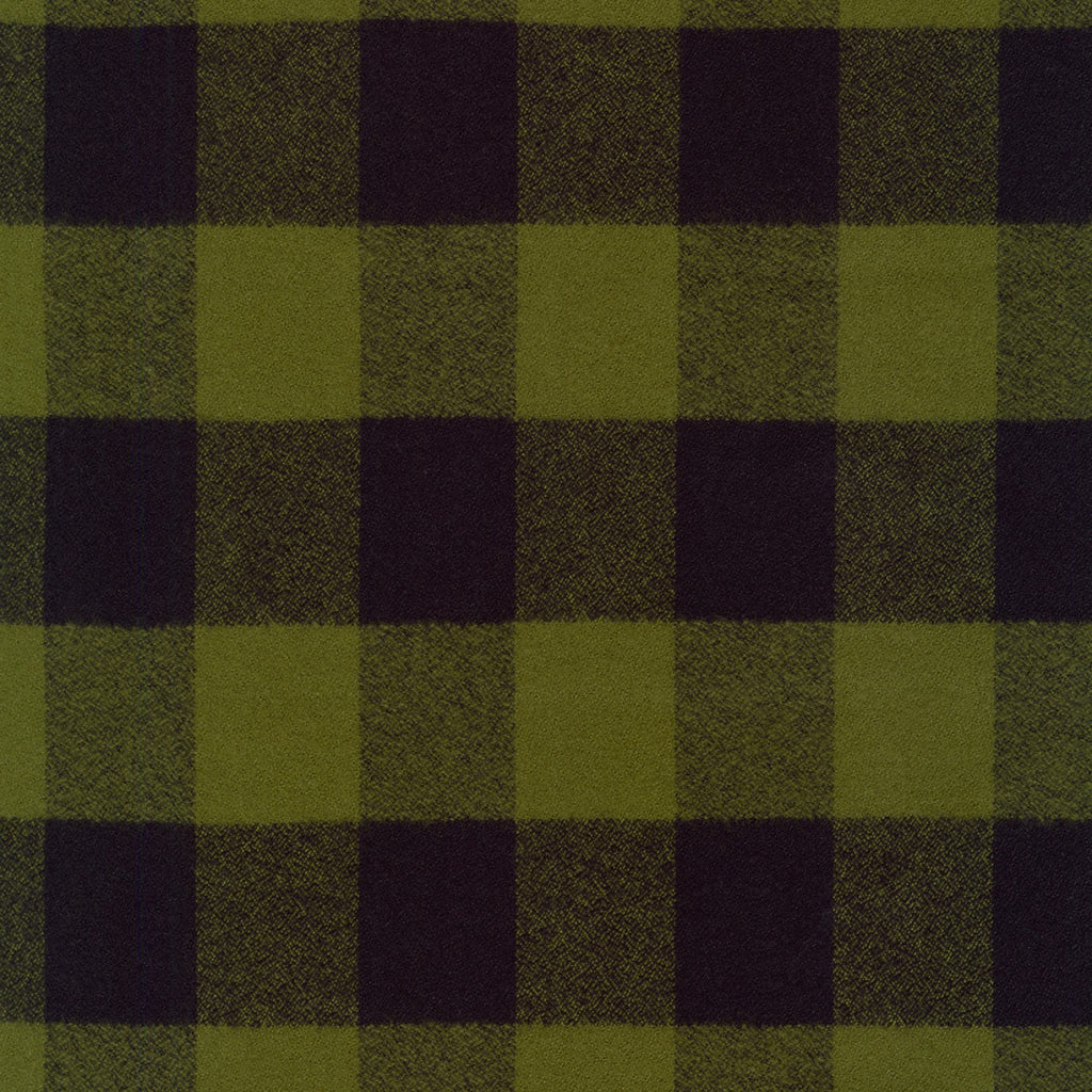 1/2m Mammoth Flannel - Buffalo Plaid - Olive