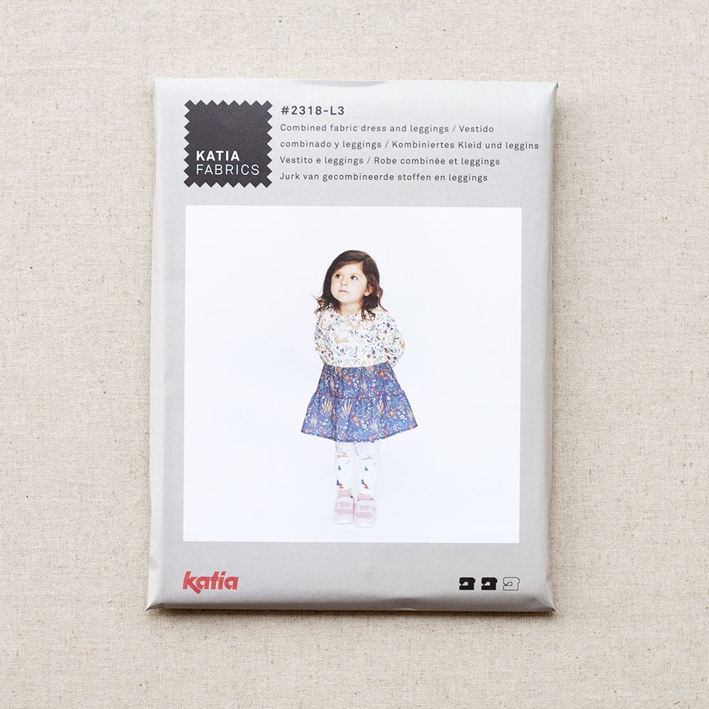 Katia Fabrics - Little Pattern - Combined Fabric Dress & Leggings