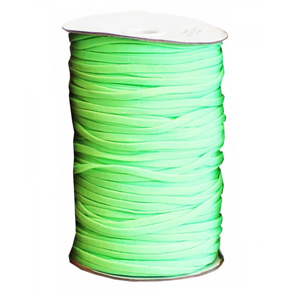 "Soft Stretch Elastic - 1/4"" - Neon Green - Per Metre"