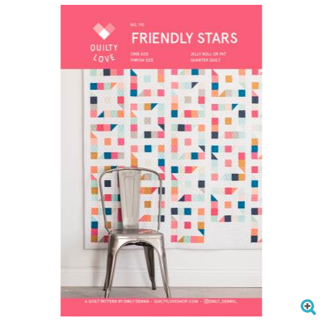 Quilty Love - Friendly Stars Quilt Pattern