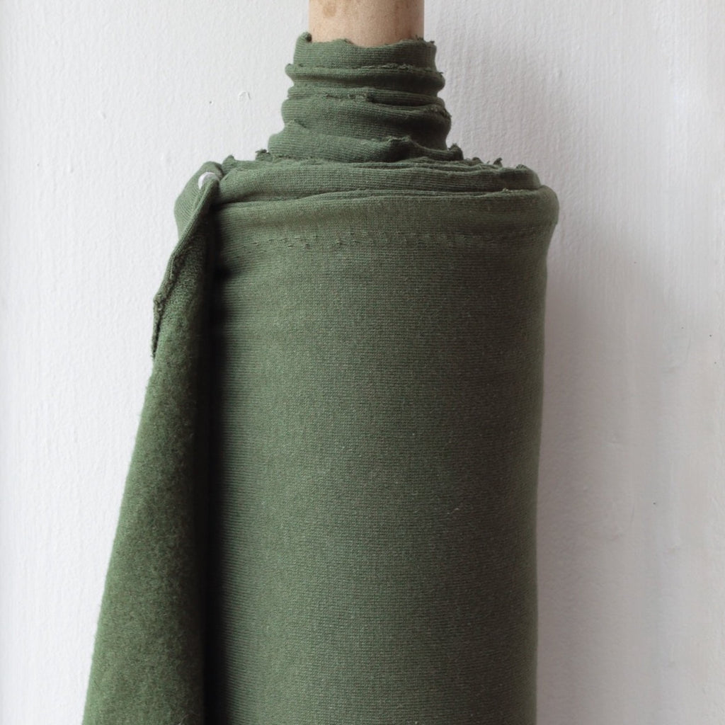 1/2m Bamboo Cotton Fleece - Dark Olive