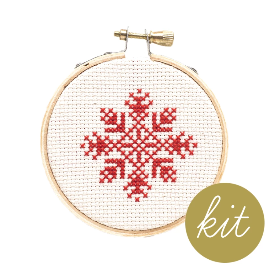 Junebug and Darlin - Snowflake Ornament Cross Stitch Kit V