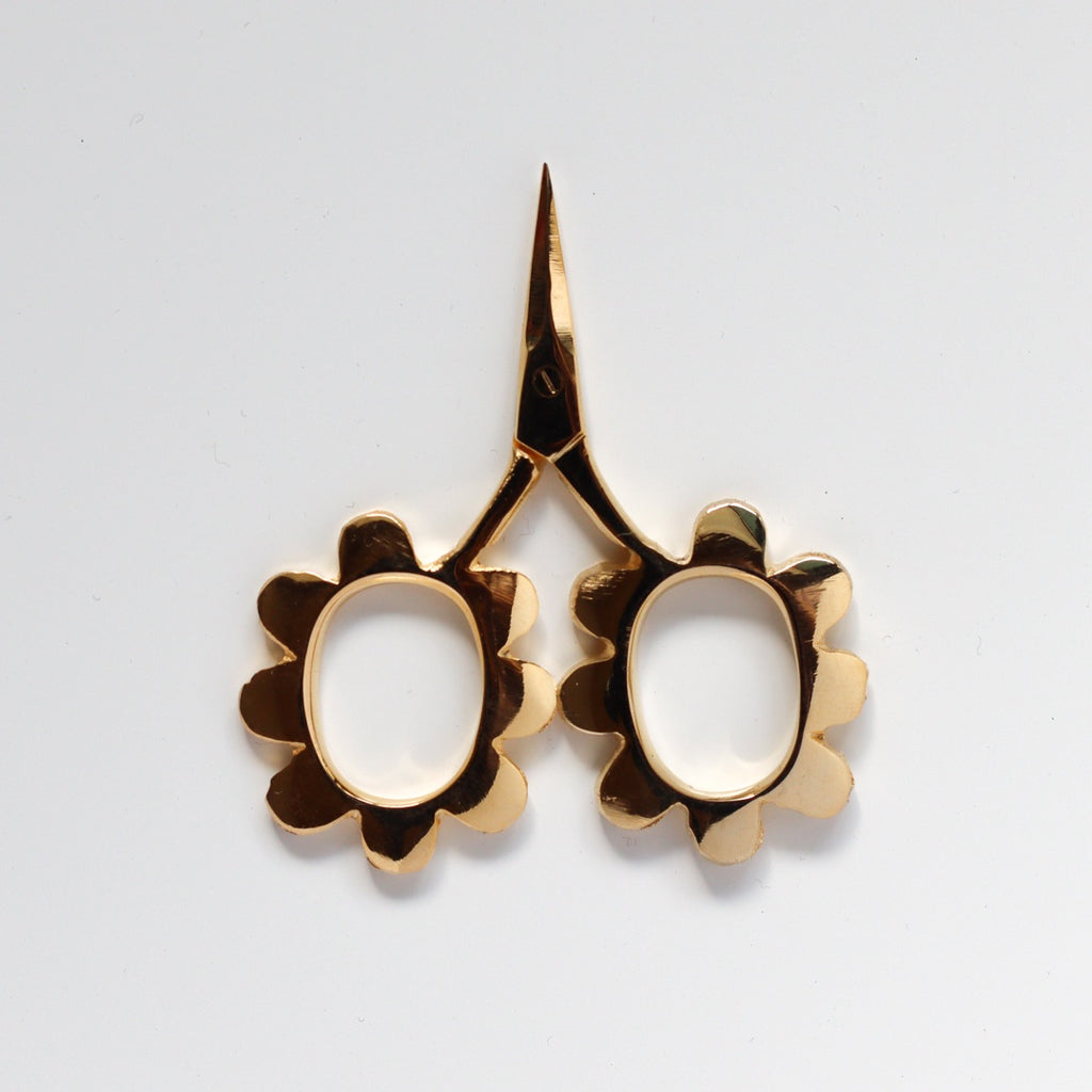 Flower Power Scissors - Gold