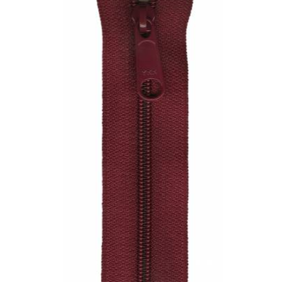 "YKK Ziplon Closed Bottom Zipper - 9"" - Burgundy"