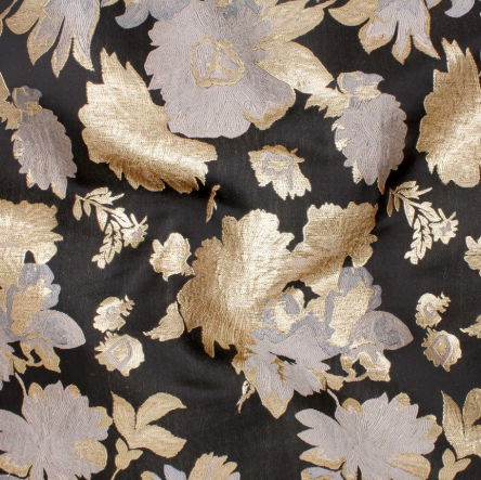 1/2m Azuri Brocade - Black and Gold