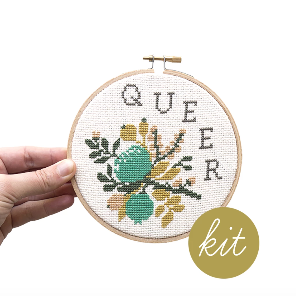 Junebug and Darlin - Queer Cross Stitch Kit