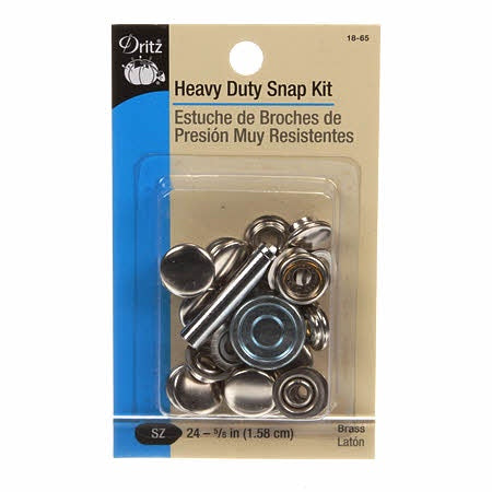 Heavy Duty Snap Kit - 7count - Brass - Nickel Plated