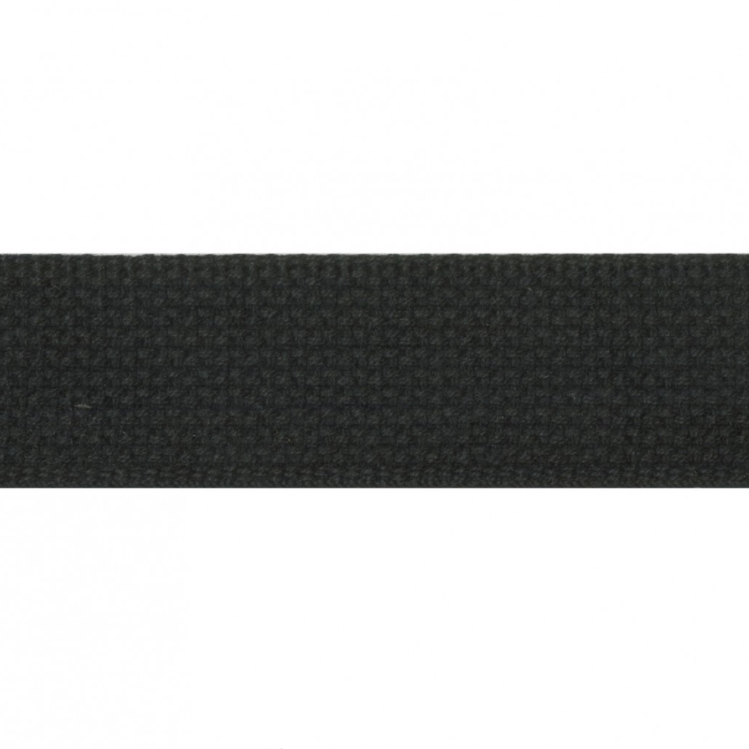 "1.5"" Cotton Webbing - Black - 1m"