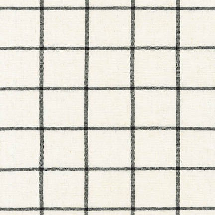 1/2m Robert Kaufman - Essex Yarn Dyed Classic Wovens - Windowpane - Ivory