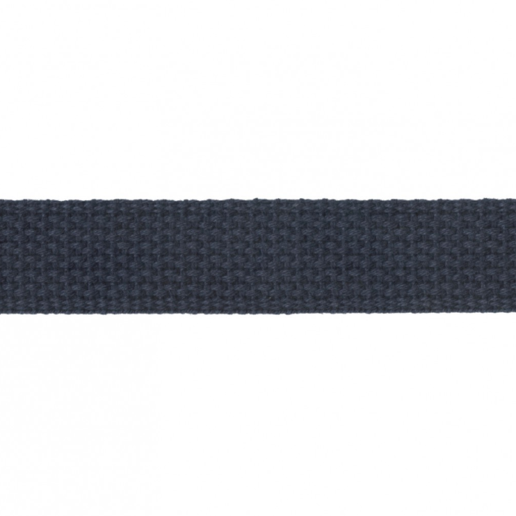 "1"" Cotton Webbing - Navy - 1m"