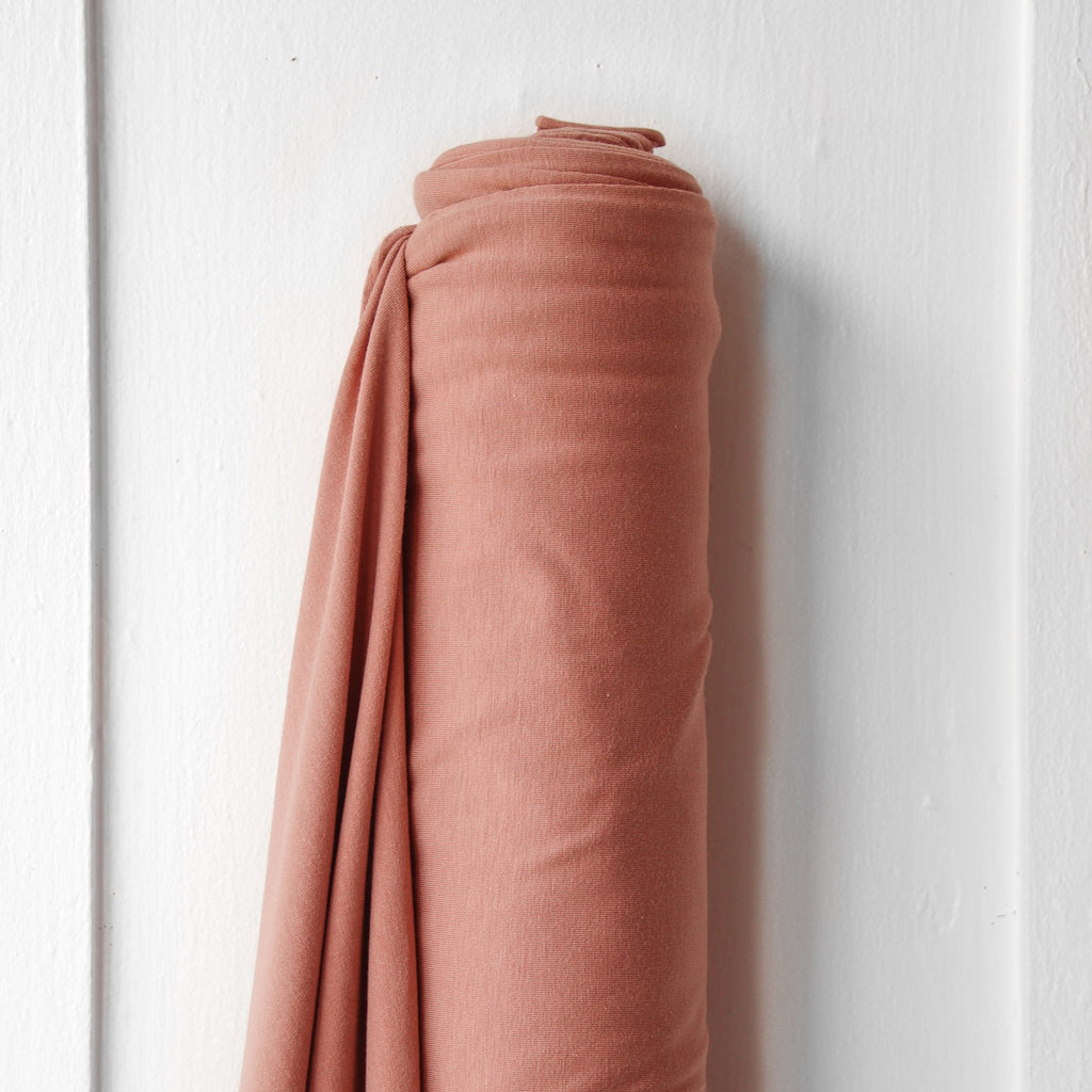 1/2m Cotton Modal Stretch Jersey - Peach