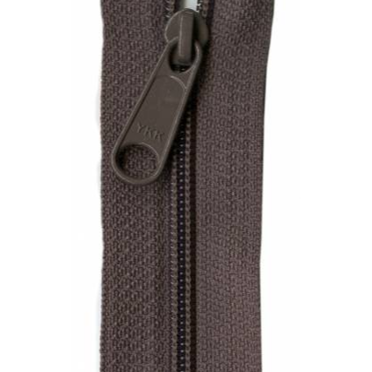 "YKK Ziplon Closed Bottom Zipper - 9"" - Iron"