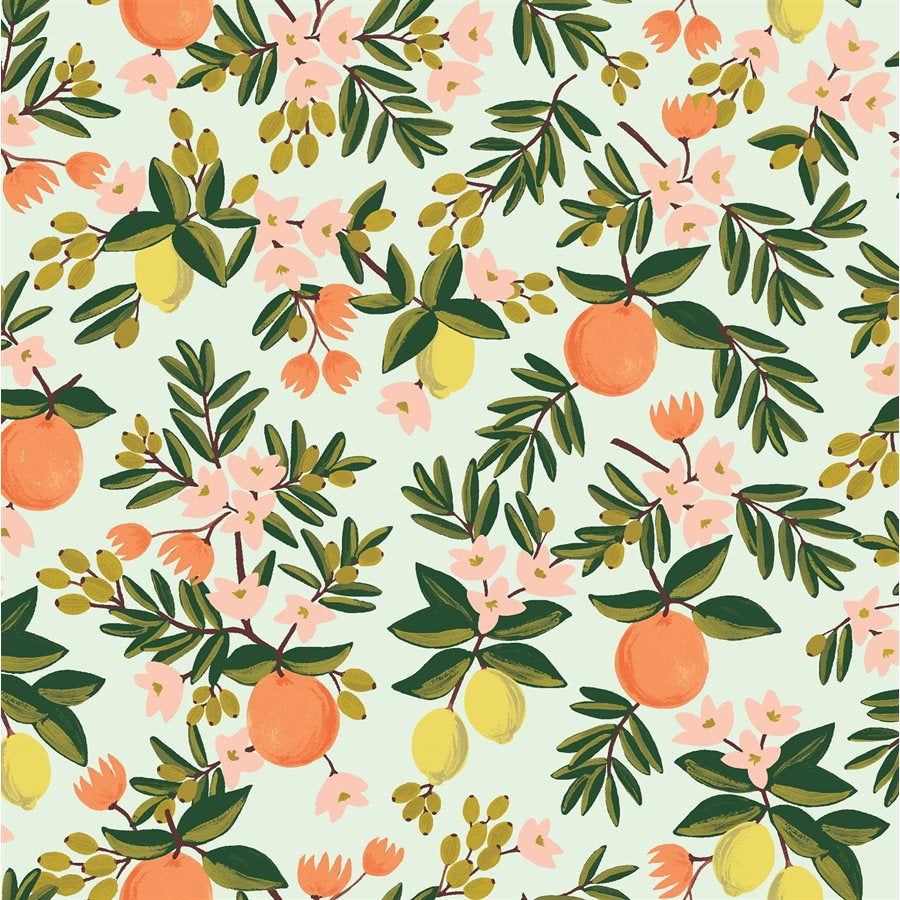 1/2m Rifle Paper Co. - Primavera - Citrus Floral - Mint