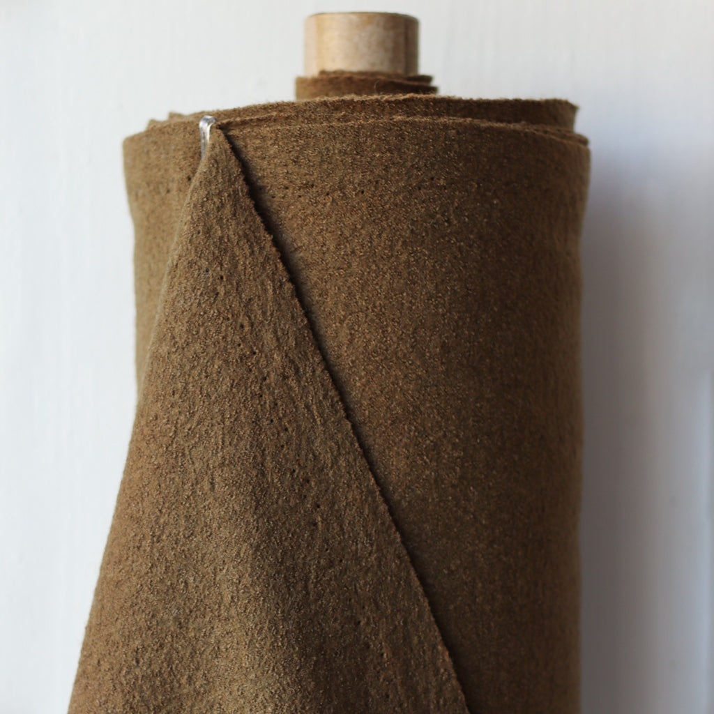1/2m Boiled Wool and Viscose - Bark