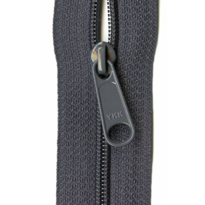 "YKK Ziplon Closed Bottom Zipper - 14"" - Charcoal Grey"