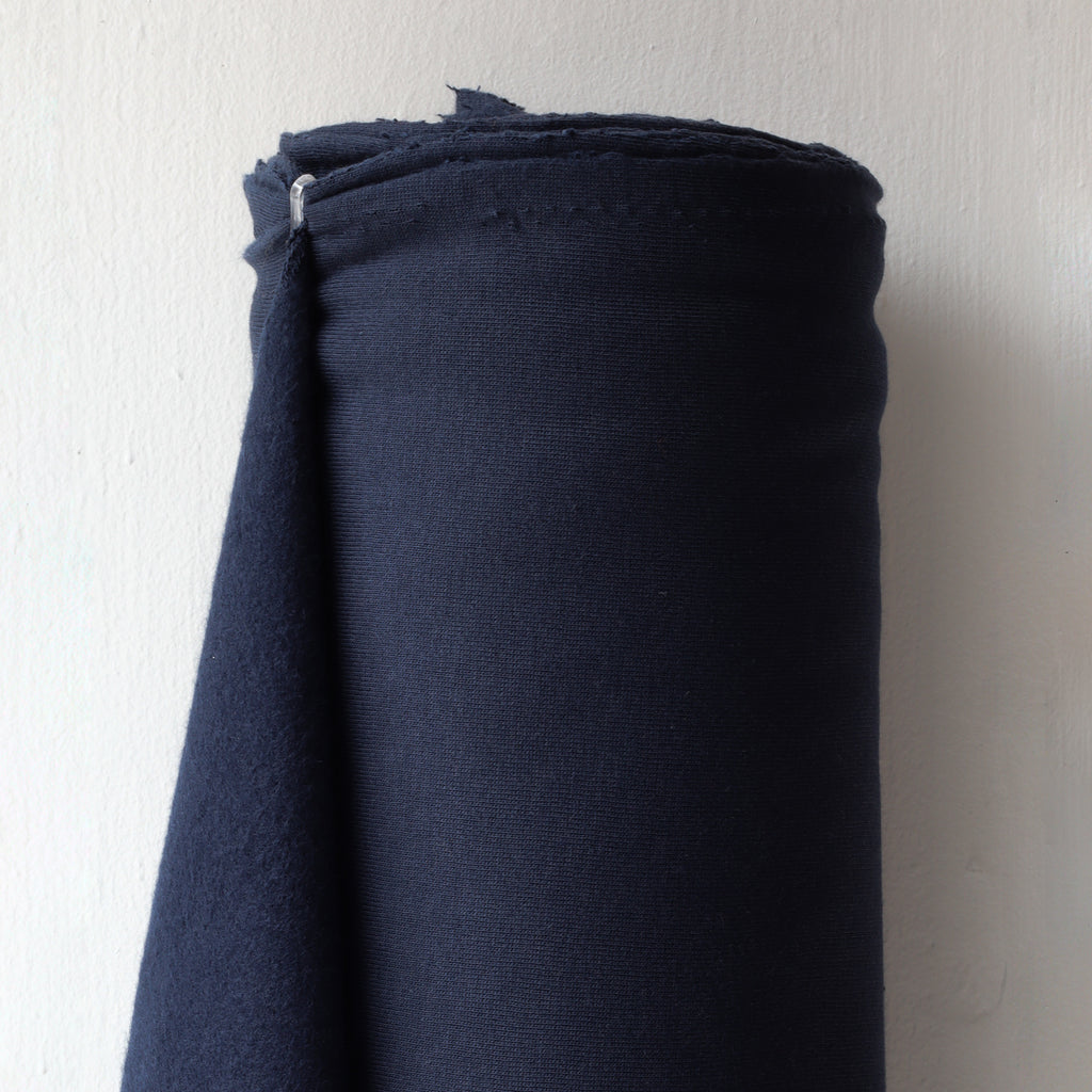1/2m Bamboo Cotton Fleece - Navy