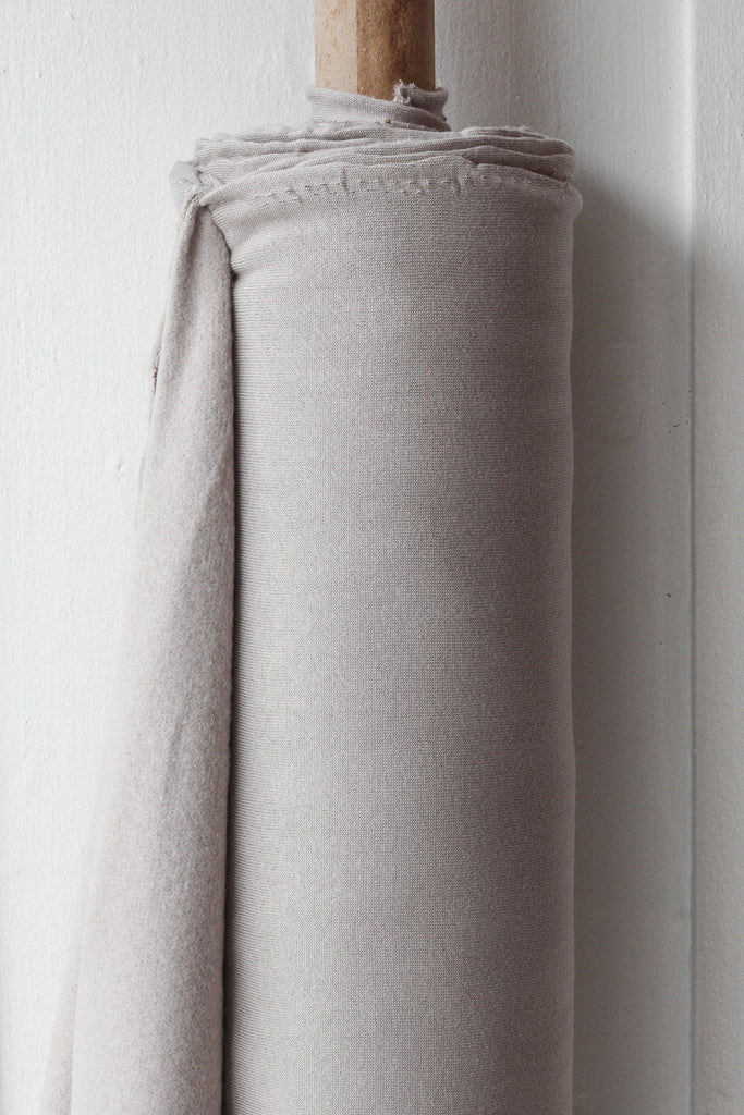 1/2m Bamboo Cotton Fleece - Soft Grey