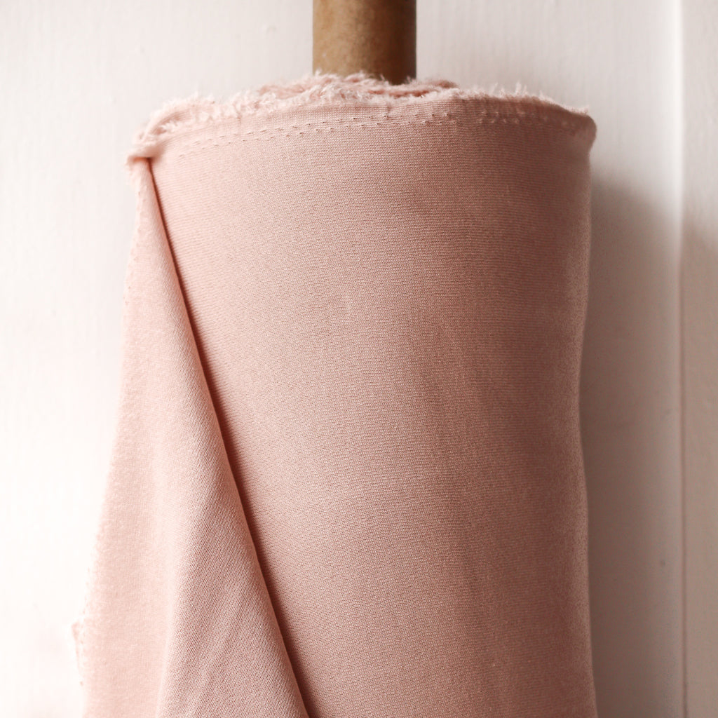 1/2m Bamboo Cotton Fleece - Soft Pink