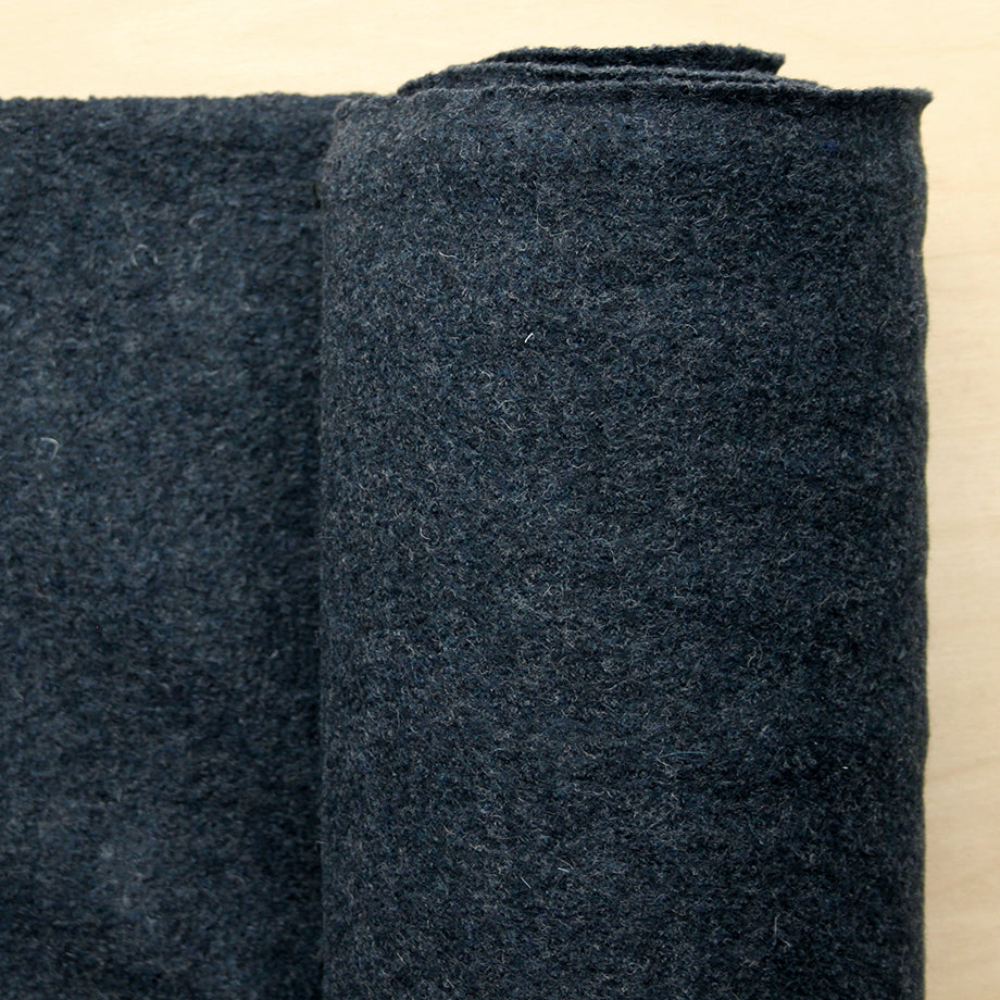1/2m Boiled Wool Coating - Midnight