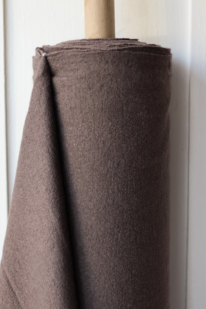 1/2m Boiled Wool and Viscose - Dark Taupe