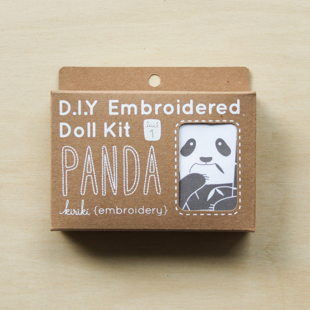 Kiriki Press - Embroidered Doll Kit - Panda