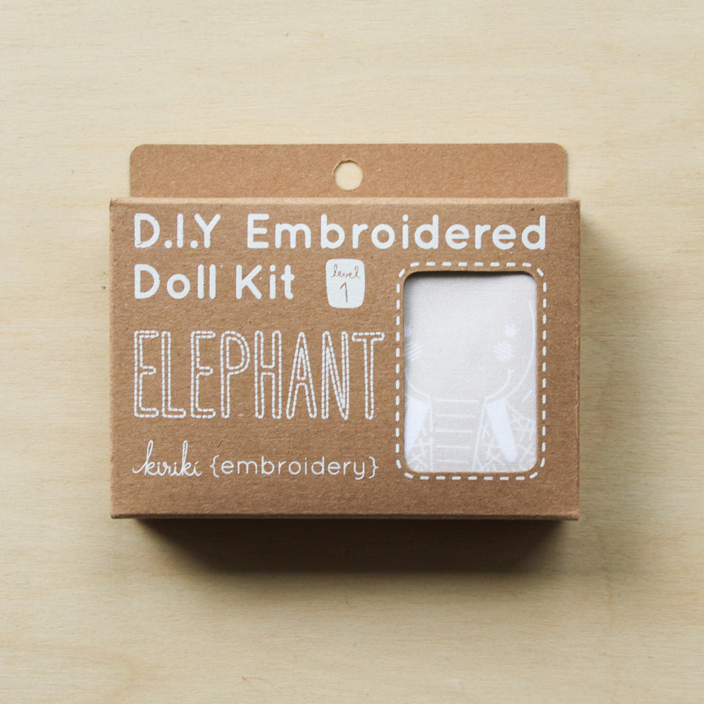 Kiriki Press - Embroidered Doll Kit - Elephant
