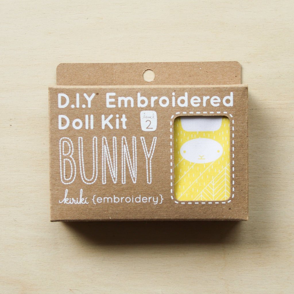 Kiriki Press - Embroidered Doll Kit - Bunny