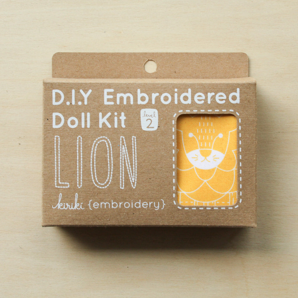 Kiriki Press - Embroidered Doll Kit - Lion